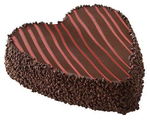 Chocolate Covered Heart Cheesecake