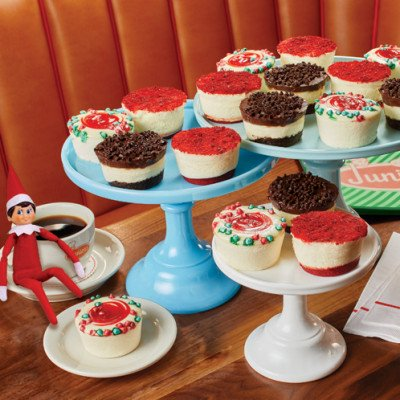 Holiday Little Fellas on table with elf